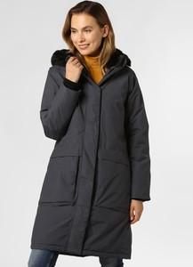 Granatowy płaszcz Didriksons w stylu casual
