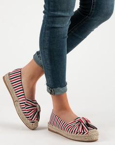 5e9536bb482b Wielokolorowe buty damskie w paski