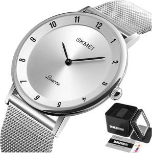 Zegarek męski SKMEI 1264 elegancki MESH srebrny