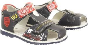 Buty dziecięce letnie Wojtyłko na rzepy