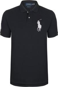 Czarna koszulka polo Ralph Lauren z krótkim rękawem w stylu casual