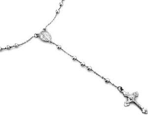 Lovrin Srebrny naszyjnik 925 długi różaniec krzyż 9,78 g