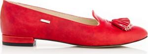 Czerwone baleriny Zapato z płaską podeszwą