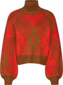 Sweter Review w stylu casual z dzianiny