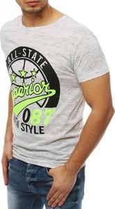 T-shirt Dstreet z nadrukiem z bawełny