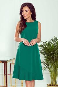 Zielona sukienka NUMOCO z okrągłym dekoltem bez rękawów mini