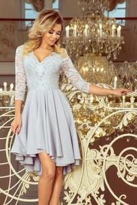Sukienka NUMOCO asymetryczna z długim rękawem