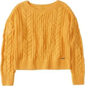Żółty sweter Abercrombie & Fitch