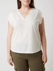 Bluzka Vero Moda z dekoltem w kształcie litery v w stylu casual z krótkim rękawem