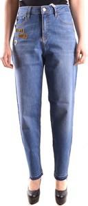 Niebieskie jeansy Love Moschino z bawełny w stylu casual