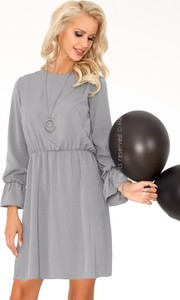 Sukienka MERRIBEL z okrągłym dekoltem z długim rękawem