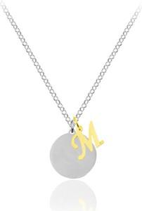 Lian Art Naszyjnik srebrny z literką - Literki do wyboru - grawer - 24k złocenie