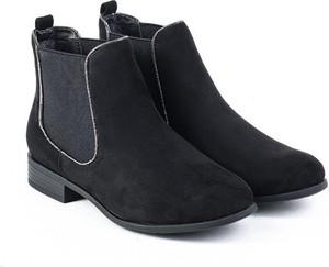 aa5e8193fa93d czarne botki na niskim obcasie - stylowo i modnie z Allani