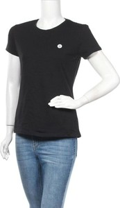 Czarny t-shirt Paul Parker z krótkim rękawem z okrągłym dekoltem