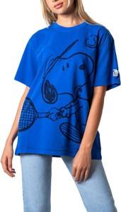 Niebieski t-shirt Levis z krótkim rękawem