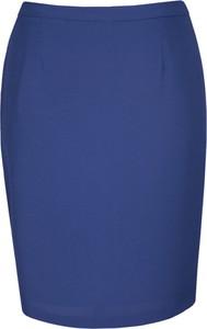 Niebieska spódnica Fokus midi