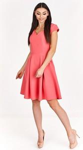 Sukienka Fokus z dekoltem w kształcie litery v rozkloszowana