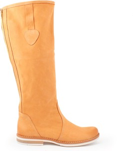 Kozaki Zapato z płaską podeszwą w stylu casual przed kolano