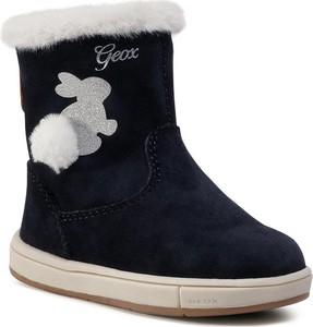 Buty dziecięce zimowe Geox dla dziewczynek z goretexu