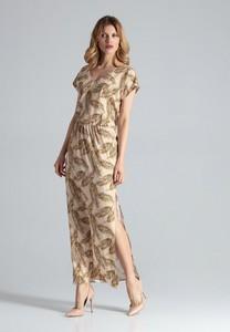 Sukienka Figl maxi z dekoltem w kształcie litery v