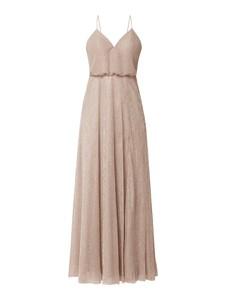 Brązowa sukienka Unique maxi na ramiączkach