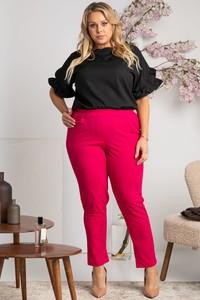Różowe spodnie KARKO z tkaniny