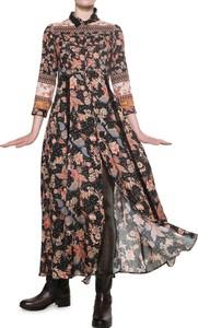 Sukienka Desigual w stylu boho z długim rękawem