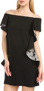 Czarna sukienka Pinko z odkrytymi ramionami mini