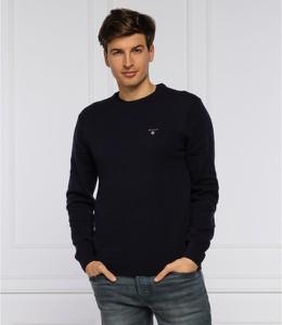 Sweter Gant z wełny z okrągłym dekoltem