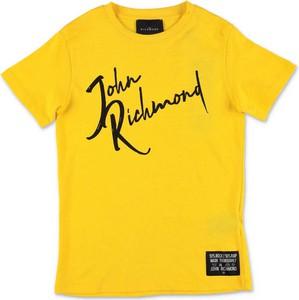 Żółta koszulka dziecięca John Richmond z krótkim rękawem