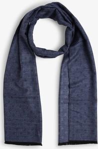 Niebieski szal męski Finshley & Harding