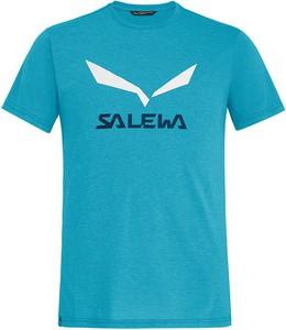 Niebieski t-shirt Salewa z bawełny