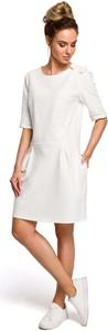 Sukienka MOE z dzianiny midi z krótkim rękawem
