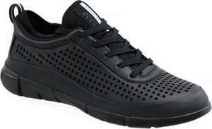 Buty sportowe Ecco ze skóry z płaską podeszwą w sportowym stylu