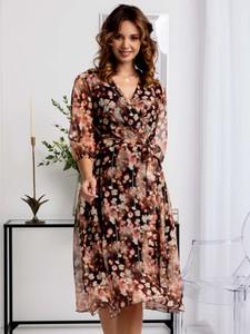 Sukienka Grandio z tkaniny midi