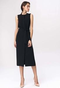 Czarna sukienka Nife prosta