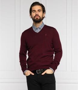 Czerwony sweter POLO RALPH LAUREN z wełny