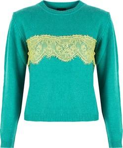 Zielony sweter Pinko w stylu casual z wełny