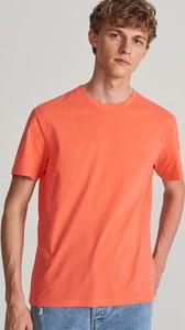 Pomarańczowy t-shirt Reserved w stylu casual