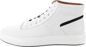 Prima Moda Białe buty za kostkę ze skóry licowej AVIGNA