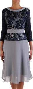 Sukienka POLSKA z szyfonu midi