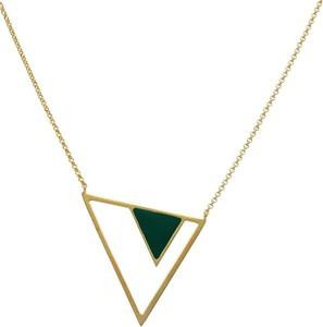 Irbis.style srebrny pozłacany naszyjnik trójkąt