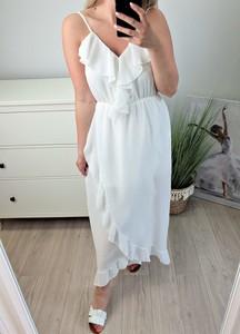 Sukienka MON BOUTIQUE z bawełny z dekoltem w kształcie litery v