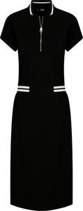 Sukienka Karl Lagerfeld w stylu casual midi z krótkim rękawem