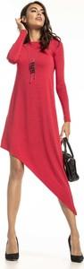 Sukienka Tessita z okrągłym dekoltem z długim rękawem midi