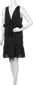 Czarna sukienka Karen Walker mini z dekoltem w kształcie litery v