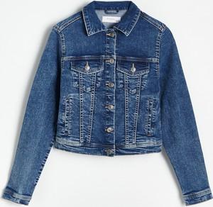 Niebieska kurtka Reserved w stylu casual krótka