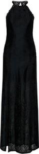 Sukienka Guess bez rękawów maxi z dekoltem w kształcie litery v