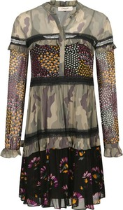 Sukienka Twinset z dekoltem w kształcie litery v z długim rękawem oversize