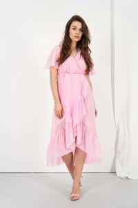Sukienka Lemoniade asymetryczna midi z dekoltem w kształcie litery v